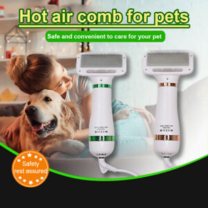2in1 Portable Pet Hair Dryer Dog Slicker Brush Grooming Hair Dryer Blower Comb~!