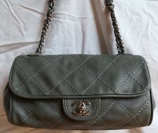 Authentic CHANEL Quilted CC Double Flap Chain Shoulder Bag