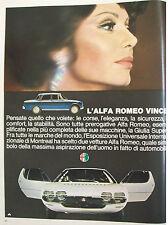 PUBBLICITà ADVERTISING ALFA ROMEO Montreal + Giulia super (1967)