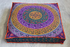 """5 Piece Lot Of 35X35"""" Square Six Color Cotton Cushion Cover Floor Pillow Covers"""