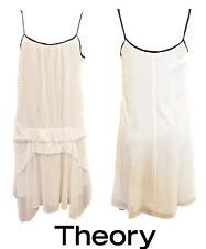 Classy Theory Silk Ivory w Black trim Slip Dress - Size 2 (8-10)