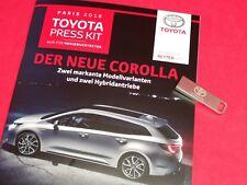 Toyota Dossier de Presse avec Clé USB Paris 2018 Der Neue Corolle