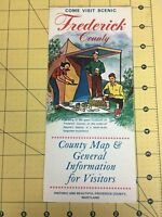 Vintage Travel Brochure Come Visit Historic Frederick County Maryland County Map