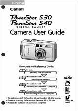 Canon Powershot S30 and S40 Digital Camera User Guide Instruction  Manual
