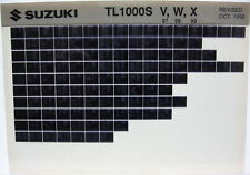 Suzuki TL1000 TL1000S 1997 1998 1999 Parts Catalog Microfiche s437