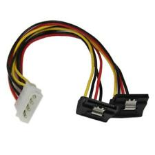 4 PIN MOLEX IDE to DUAL LATCHING RIGHT ANGLED 19 Pin SATA HDD SPLITTER Y CABLE