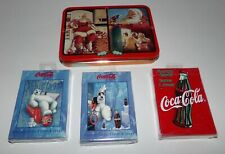 Coca Cola Playing Cards - 5 Decks Total Brand New Sealed
