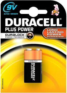 Duracell Plus Power 9v Battery. Block Smoke Alarm Alkaline Cell (mn1604/6lr61)