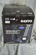 SANYO iPod Docking System Desktop Audio 3 Piece /w Box DTA-2680