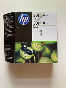 HP 301XL Black Ink - 2 Pack - Original - (Opened Ink Packets but unused) D8J45AE