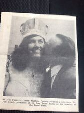 H7-1 Ephemera 1971 Picture St Ives Carnival Queen Marlene Connor Jim Couch