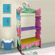 Children Furniture Kids Girls Pink Fairy Bookcase Bookshelf 2 Drawers 52