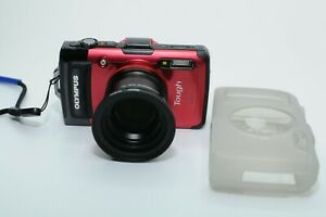 Olympus Digital Camera Stylus Tg-3 Tough Red 16 Million Pixel F2.0 15M Waterproo