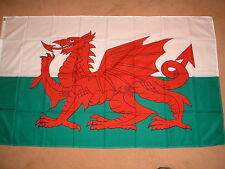 WALES WELSH RED DRAGON FLAG 5' X 3' BRAND NEW POLYESTER POST FREE IN UK