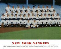 1954 NEW YORK YANKEES  TEAM 8X10 PHOTO MANTLE FORD BASEBALL HOF MLB USA