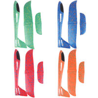 38cm Hand Throw Flying Plane Foam Aeroplane Model Kids Toys Launch Glider FT