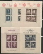POLAND: 1937-1939 Collection of Minisheet Examples - Album Page (33345)