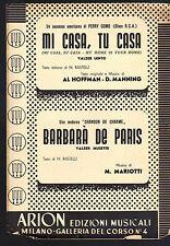 MI CASA, TU CASA # HOFFMAN, MANNING - BARBARA' DE PARIS # MARIOTTI # SPARTITO
