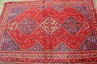 Stunning Three Medallion Oriental Carpet,Gorgeous natural Dye 4TH QUARTER RUG