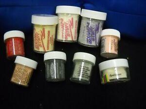 Lot of 9 - Assorted Embossing Powders - Unused/Used