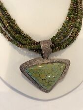 Lesley Aine McKeown Turquoise Sterling Silver Necklace Amy Kahn Russel Earrings