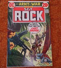Our Army At War #256 ~ Sgt. Rock / Joe Kubert ~ (9.0) 1973