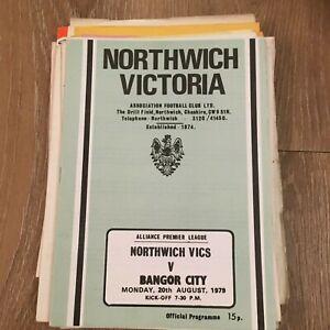 NORTHWICH VICTORIA V BANGOR CITY - ALLIANCE PREMIER LEAGUE - 20/8/1979