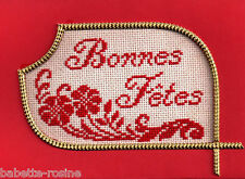 CARTE de VOEUX - KIT point de croix - BONNES FÊTES