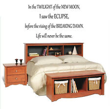 In the twilight of the new moon Vinyl Wall Decal Decor Art Letter Custom Saying