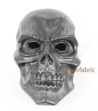 BLACK SKULL MASK batman Arkham City origin PVC Halloween Costume