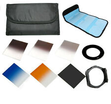 6 Square filter kit Gradual ND2 ND4 ND8 67mm ring adapter for Cokin p series