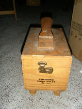 Vintage Wood Esquire Shoe Valet Deluxe Box With Dovetail Construction