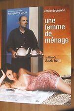 AFFICHE - UNE FEMME DE MENAGE EMILIE DEQUENNE