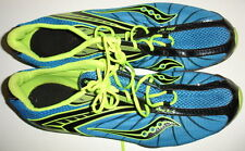 Saucony XT-600 Shay XC2 Blue/Yellow Track/Field Shoes/Cleats/Spikes Mens Sz 12.5