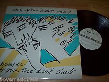"""'81 EXCELLENT Can You Hear Me? Music From The Deaf Club 12"""" LP Dead Kennedys KGB"""