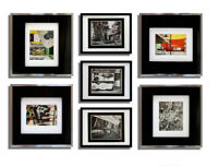 7 pc set  Le CORBUSIER w/ 4 LITHOGRAPH Pochoir + 3 Photo 1937 w/Frame Included