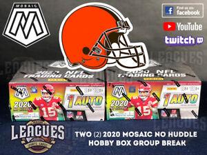 Browns | 2020 Panini Mosaic NO HUDDLE Hobby Box Football Two (2) Box Break