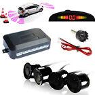 Car Vehicle Parking Rear Reverse 4 Sensors Buzzer Radar LED Display Audio Alarm