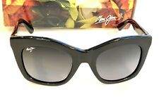 Maui Jim Coco Palm Sunglasses in BLACK w Polarized Grey Women  GS720-02 NEW $