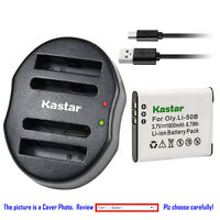 Kastar Battery Dual Charger for Olympus Li-50B & TG-810 TG-820 iHS TG-835 TG-850