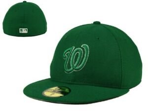 New NWT MLB Washington Nationals New Era St Pattys 59Fifty 7 1/2  Hat Cap GD
