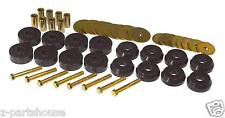 UNIVERSAL Polyurethane Body to Frame Mount Bushing Kit  (8 Location Set)  BLACK