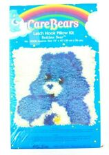 "New listing Rare New 2009 Care Bears ""Bedtime Bear"" Latch Hook Pillow Kit 39008 12""x12"""