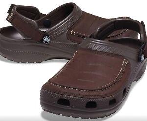 CROCS Yukon Vista ll Clogs Shoes Espresso Brown men's USA size 13