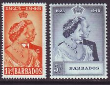 Barbados 1948 SC 210-211 MNH Set Silver Wedding