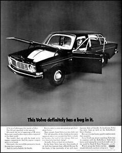 1969 Volvo 144 car Sweden automobile black 4 door vintage photo print ad adl86