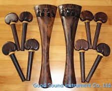 1 sets 4/4 Cello parts,nice rose wood parts (  tailpiece & pegs )