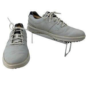 FootJoy Golf Shoes Men's Size 10.5 M Contour Series White Leather Athletic Sport