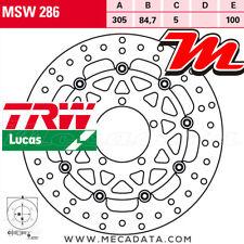 Disque de frein Avant TRW MSW 286 Triumph 1200 Tiger Explorer, ABS (V13VG) 2012+