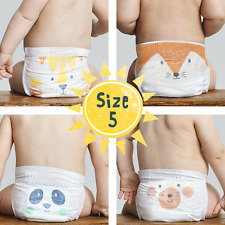 Kit & Kin Eco Disposable Nappies- Biodegradable Baby Nappies- Size 5   120 pack